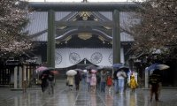 It's raining at the shrine
