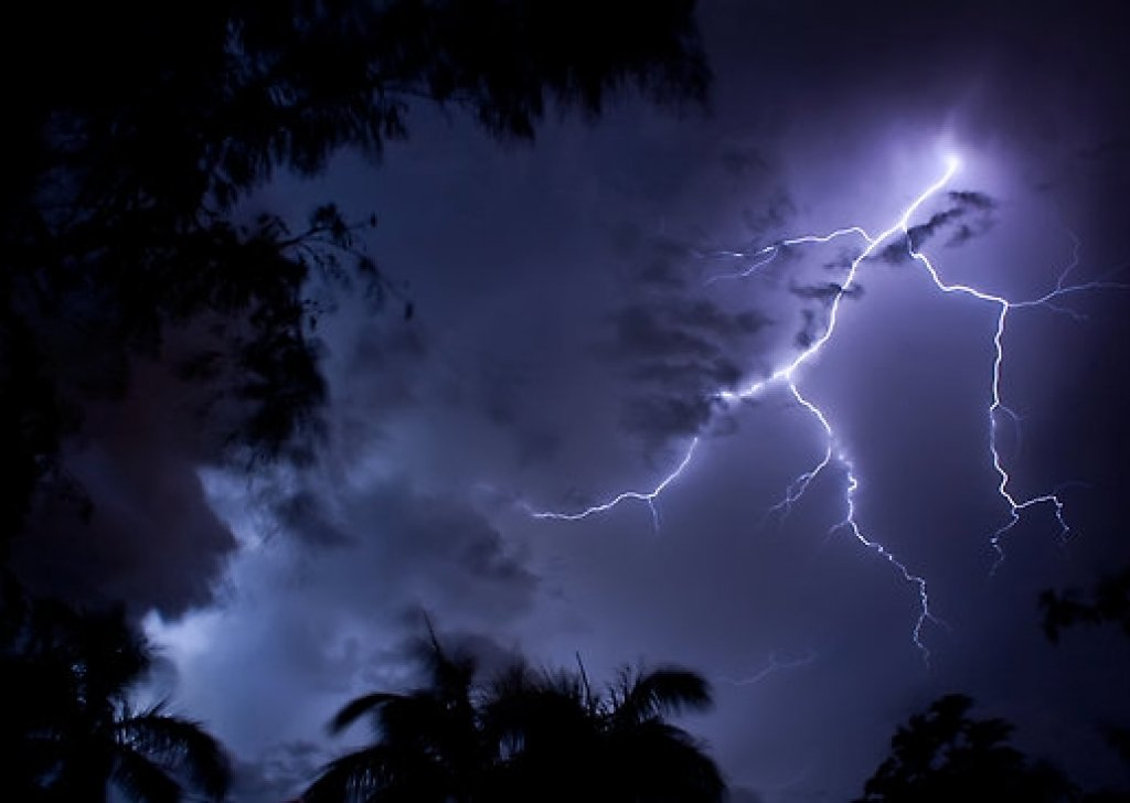 Tropical Island Beach Ambience Sound: A Stormy Night On A Tropical Island Audio Atmosphere