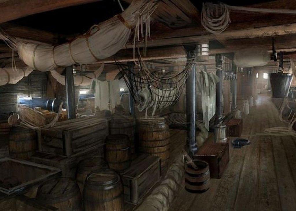 Sleeping Below Deck Of A Pirate Brigantine Audio Atmosphere