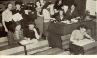 A Calm Studying Environment, a Classroom in the 1940s